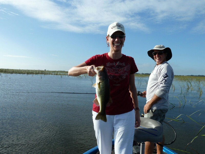 Newlyweds fishing with capt dave lauer lake okeechobee for Captain dave s fishing