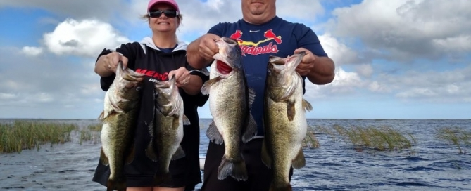 Florida Bass Fishing report Lake Okeechobee