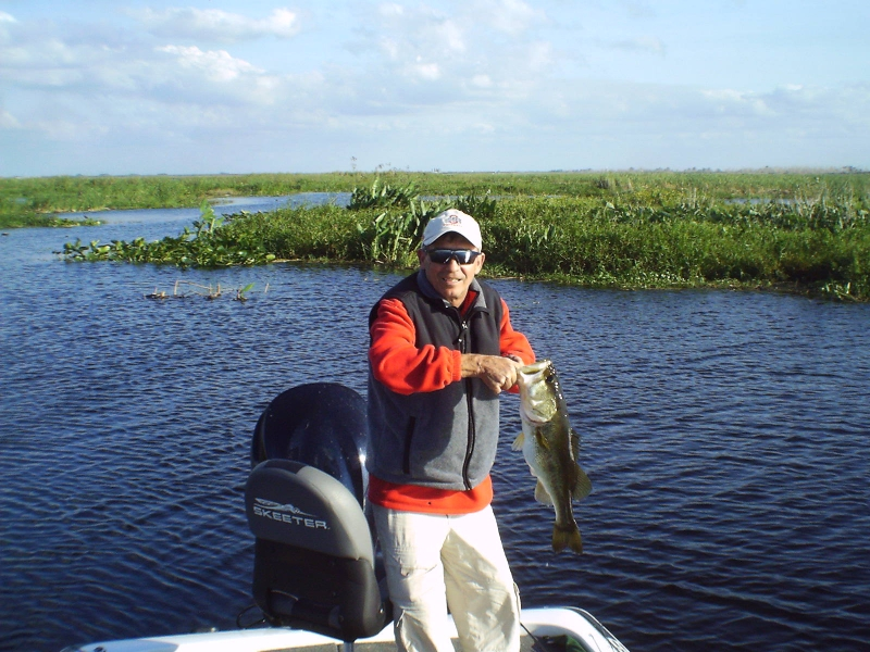 South florida lake okeechobee bass fishing report lake for Lake okeechobee fishing guides