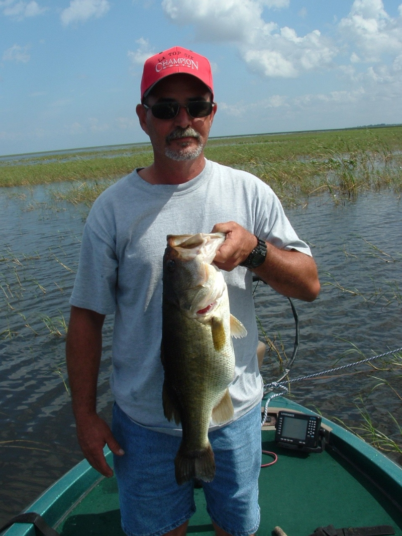 Light tackle and live bait on lake okeechobee lake for Lake okeechobee fishing guides