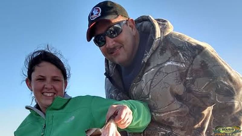 Bass Fishing Father And Daughter Team On Okeechobee