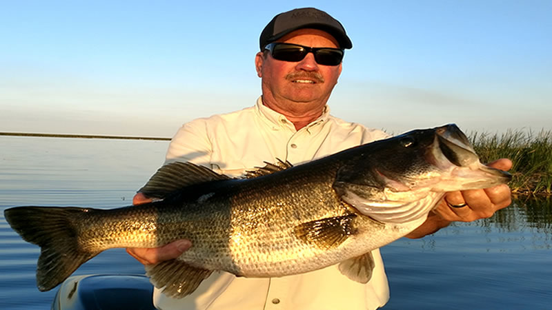 March Big Bass Fishing on Lake Okeechobee in Central Florida