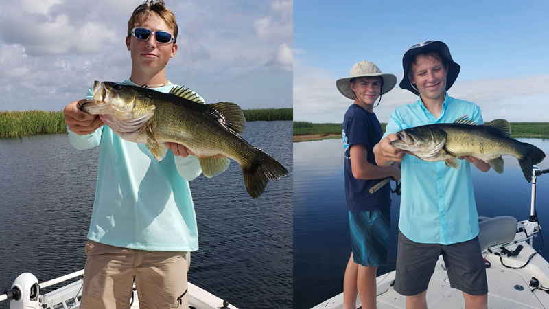 Great Bass Fishing Action on Lake Okeechobee in Florida